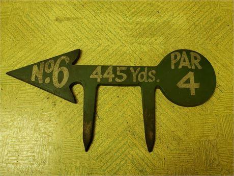 Antique Metal Golf Yardage Marker