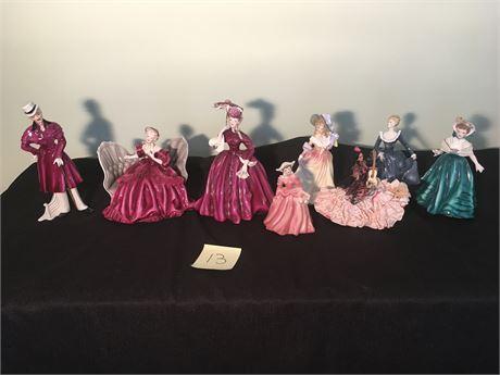 Vintage Royal Doulton and Florence Ceramics Porcelain Figurines
