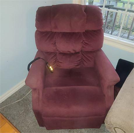 Burgandy/Red Lift Chair