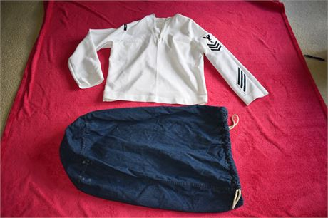 US Navy Security Uniform top and Duffle Bag