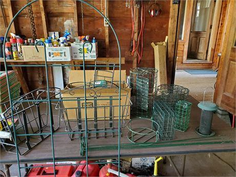 Garden Lot Suet Holders Flower Baskets