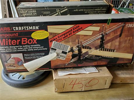Craftsman Compound Miter Box w/ Saw NIB