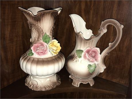 Italian Porcelain (2 pieces) - Capidimonte and Bassano