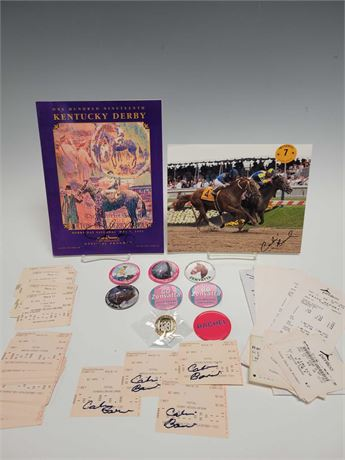 Kentucky Derby Autographs, Pins, Photos, Tickets and Signed Program