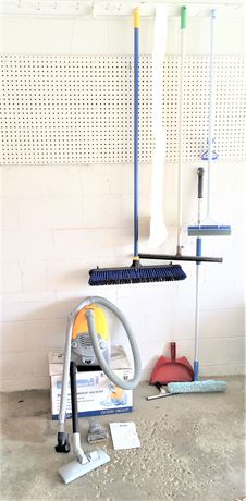 Kenmore Cannister Vacuum, Push Broom, and More