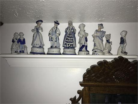 Porcelain Figurine Lot (9 pieces)