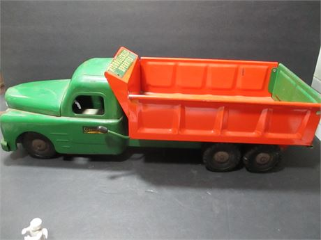 """Vintage 1950's Steel 21"""" Structo  Hydraulic Dump Truck Rare Collectible"""