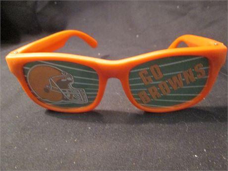 Vintage Cleveland Brown's Orange Novelty Sun Glasses