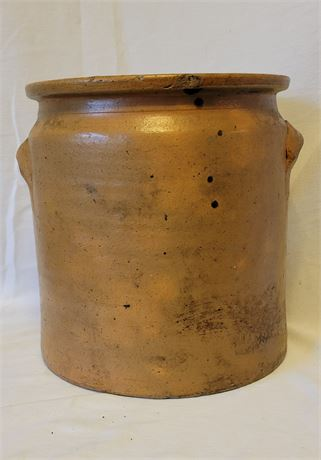 """Large Stoneware Crock with Handles 10"""" x 11"""""""