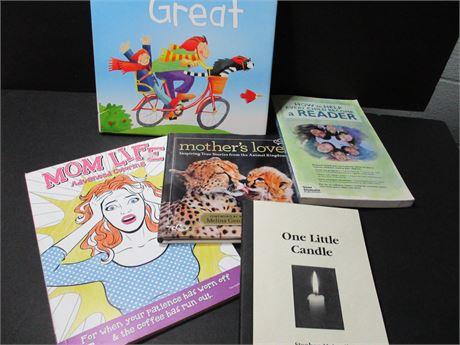 Vintage 5 Piece Mom's Poem & Kids Coloring Book lot