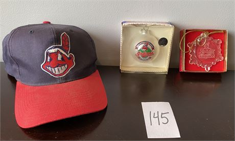 Cleveland Indians Collector's Lot Featuring Chief Wahoo