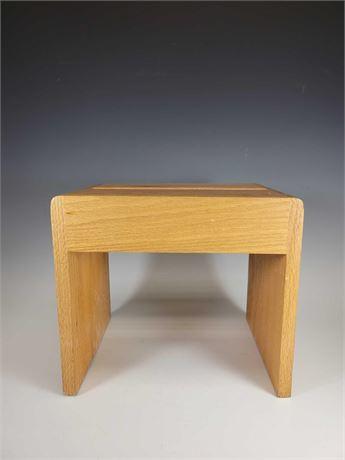 Wood Step Stool Solid Oak