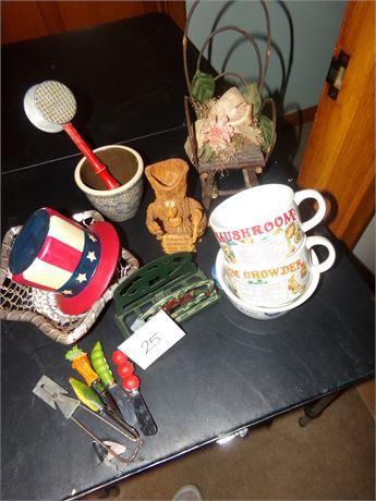 Soup Bowls, Napkin Holder, Vintage Utensil, and MORE