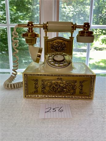 Vintage Phone with a Brass Dial