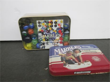 New Unopened Channel Craft Tin of Collector Marbles Lot