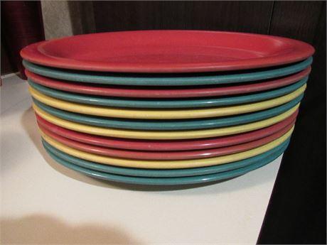Melamine Dinner Plates - Set of 12