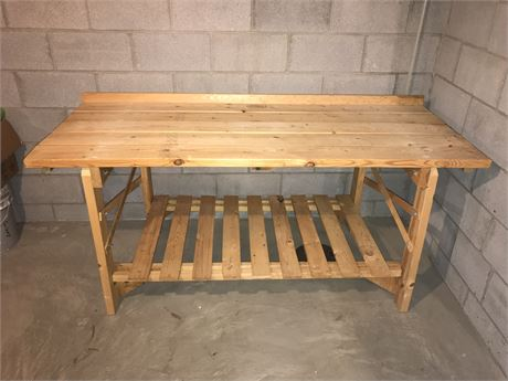 Wooden Archway Work Bench - MUST BRING TOOLS TO DISASSEMBLE