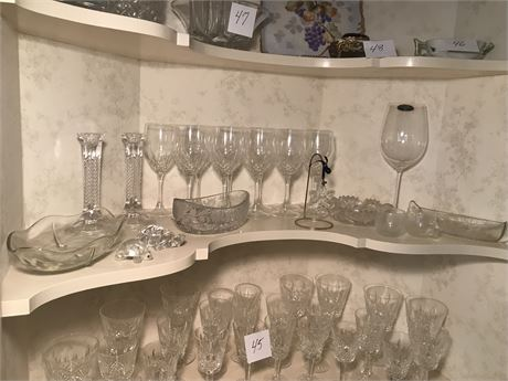 Shelf of Crystal - includes Swarovski, Villeroy and Bach