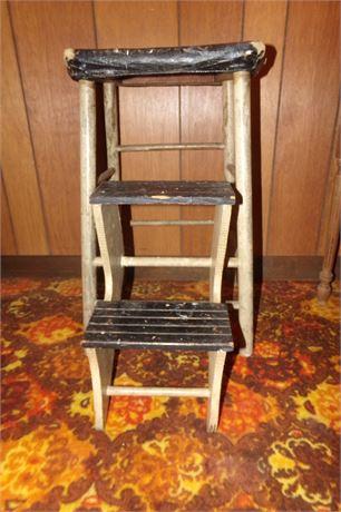 Antique Folding Step Stool