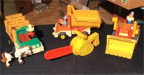 Fisher Price Toy Construction Trucks & Tools
