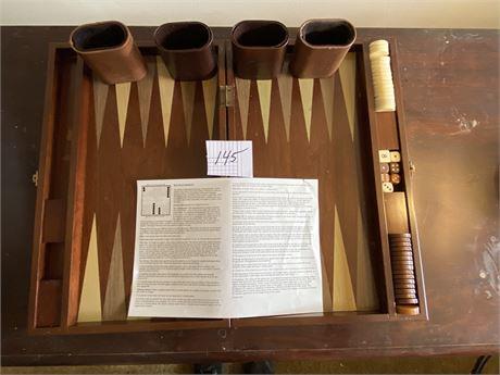 1996 Bombay Company Backgammon Set