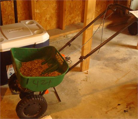 Lawn Spreader & Wheeled Cooler