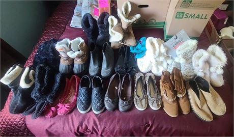 Ladies Summer/Winter Footwear 17 PAIRS SIZE 8-9