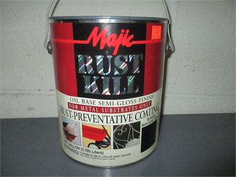 1 Gal Majic Rust Kill Black Semi Gloss Multi Purpose Oil Base Enamel