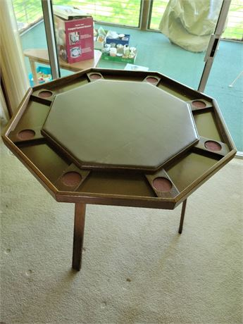 Octagon Table for Poker/Games