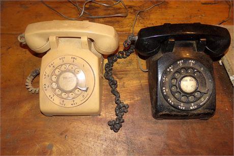 2 rotary phones