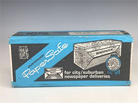 Steel City Rust Proof Paper Safe for Newspaper Deliveries NIB