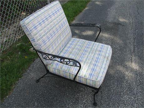 Metal Vine Patio Outdoor arm chair w Custom Cushions