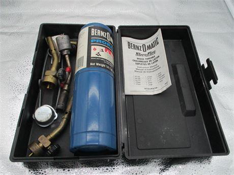Bernz O Matic Sure Fire Propane Torch w/ Tips & Accessories