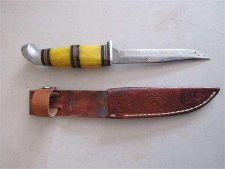 Kinfolks Hunting Knife w/ Leather Sheath
