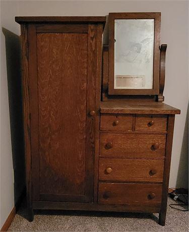 Antique Dresser/Wardrobe/Mirror