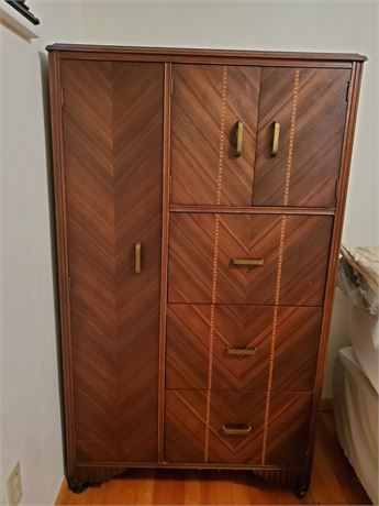 Antique Waterfall Armoire