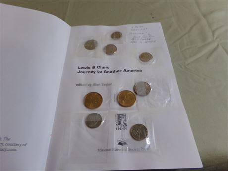 Lewis and Clark Book and Coins
