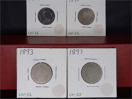 Late 1800s nickels