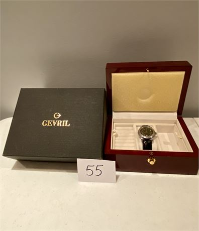 Gevril Watch in Original Box - New Battery