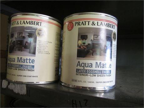 8 Qts Pratt & Lambert Aqua Matte Latex Eggshell Enamel
