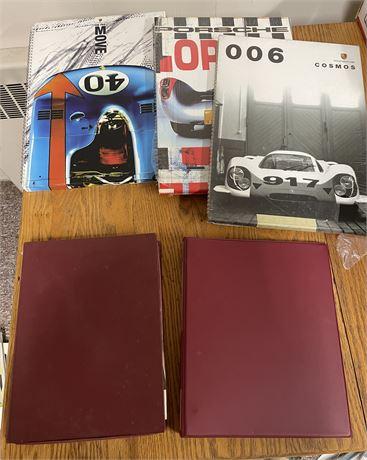 Porsche Carrera Assembly Guide, Vtg. Porsche Ads, NIP Porsche Museum Calendars