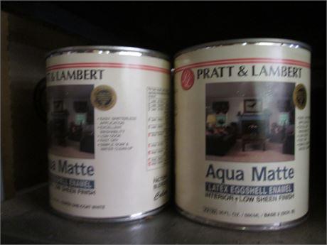 4 Qts Pratt & Lambert Aqua Matte Latex Eggshell Enamel