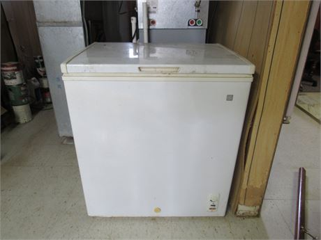GE Freezer. Contents Not Included
