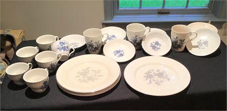 Wedgwood Royal Blue Ironstone China Set