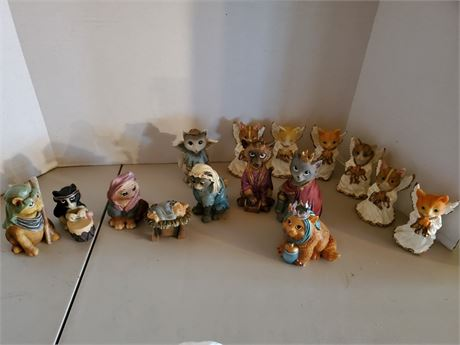 Cat Nativity Set & Cat + Bonus Angels