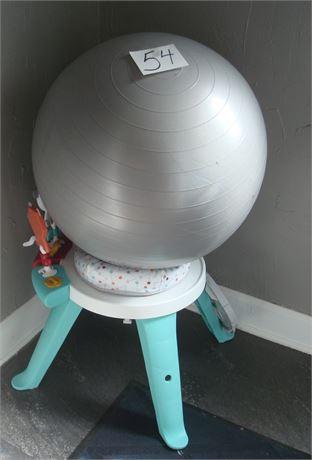Yoga Ball & Toddler Spin & Sort Activity Center