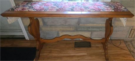 Long Wood Table w/ Runner