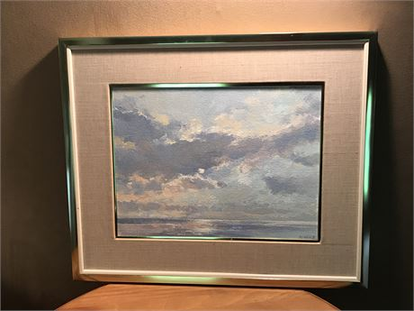 """Original Oil on Canvas by Hal McIntosh - Titled """"Moonglow""""  (see description)"""