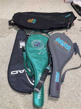 Mitt Wide Rocker System Tennis Racquet, Wimbledon Eclipse Tennis Racquet, & More