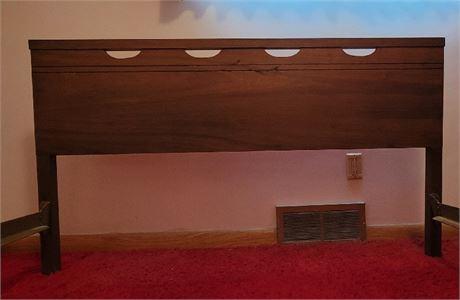 MCM Dark Wood Double Bed